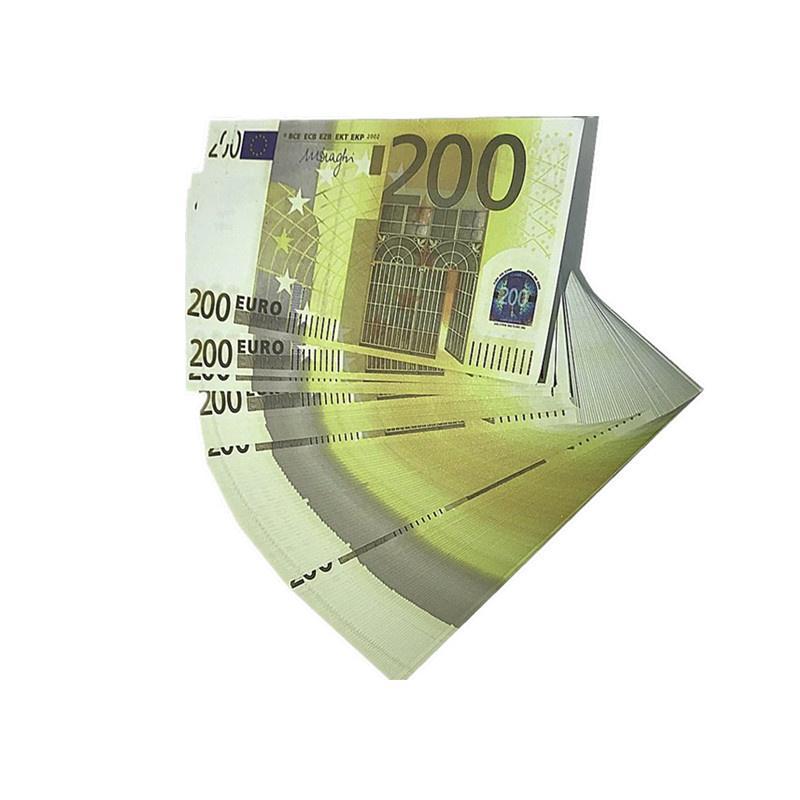 Props Euro Magic Euro Props Shooting Niños Billetes de banco Regalos de película Venta al por mayor Fábrica DGQJP L10 Copiar Toys Design 1: 1 ATWPV