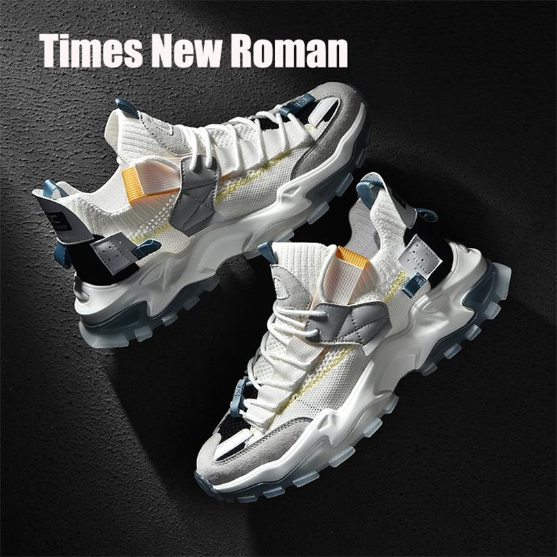 Times New Roman Fashion Высокое качество Высота Увеличение мужчин Коренастые кроссовки Мода Дышащая человеко-носиный мужчина Повседневная обувь 201217