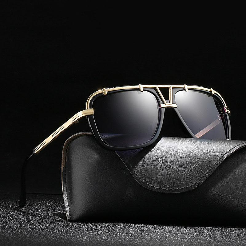 Gafas femeninas Mujeres Marco Vintage Sun Gafas de sol Hombres BIERD UV400 Ocultos para diseñador masculino de gran tamaño Señoras Vmubg