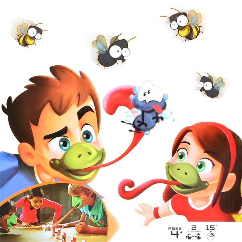 Língua tic-tac chameleon língua engraçado jogo de tabuleiro para brinquedo de festa de família, ser rápido para lamber cartões Toy set para crianças jogo de quebra-cabeça Y200428