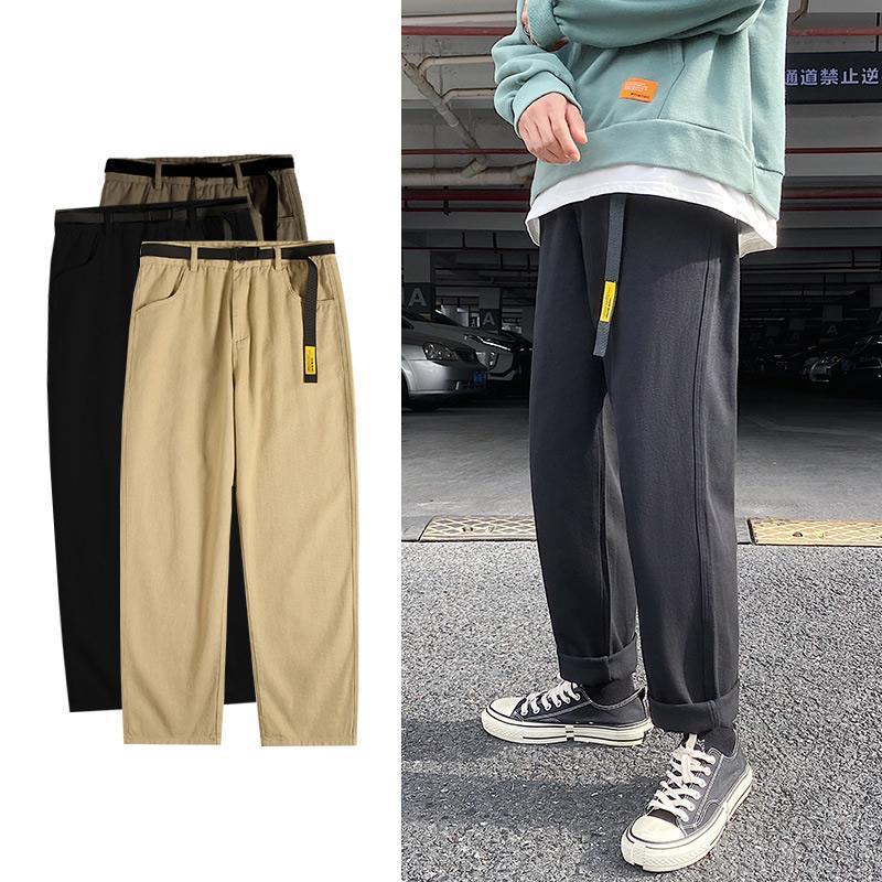 Hombres Negro Coreano Harem Pantalones 2020 Japonés Streetwear Joggers Harajuku Hip Hop Casual Pantalones sueltos Tallas Ropa de Hombres
