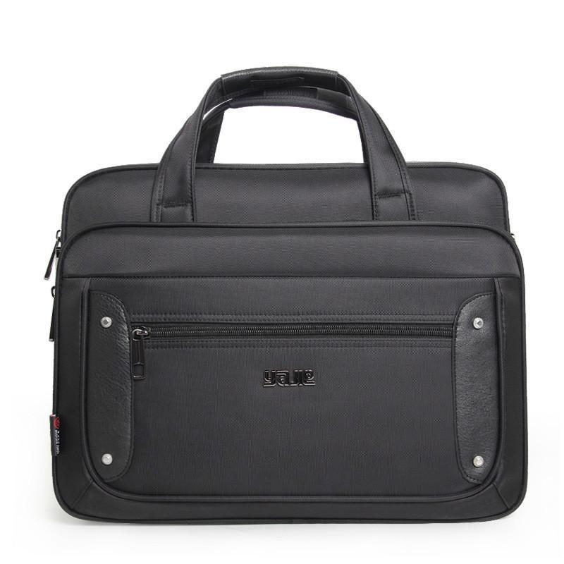 HBP Briefcase Laptop Bag Oxford Cloth Multi-Function Waterproof Handbags Casual Portfolios Shoulder Bags For Men 16 17 19 inches Q0112