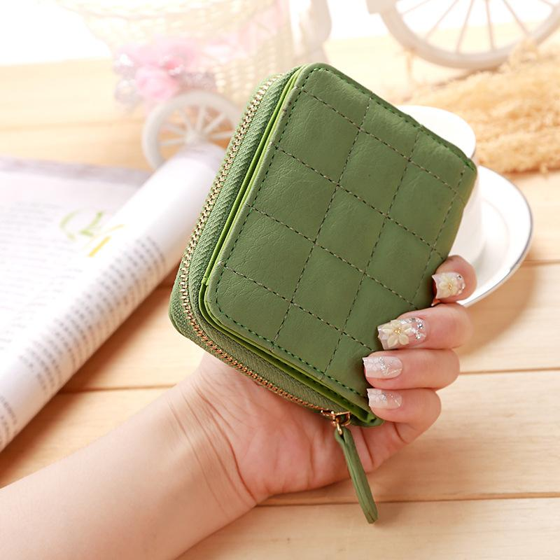 Mujeres cortas carteras PU cuero monederos titulares de tarjetas de nubuck billetera de moda mujer pequeña cremallera billetera con monedero monedero