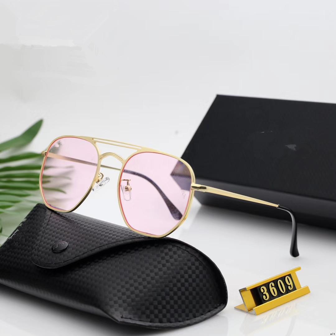Moda hombre mujer diseñador gafas de sol moda gafas de sol adumbral gafas gafas de sol estilo 3609 6 color de alta calidad con caja