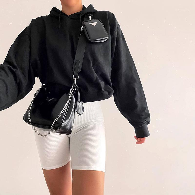 Instahot Женщины Высокая талия Эластичные Шорты Летние Повседневные Скинни Базовые Ретные Вязаные Мягкие Шоры 2020 Женская Streetwear Сплошные Шорты1