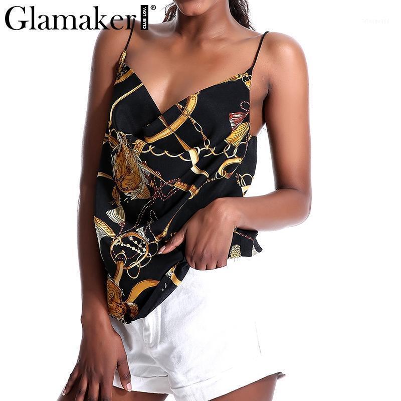 Glamaker Black Sexy Vintage Vintage Mulheres Camiseta Beach Elegante Primavera Verão Partido Top Feminino Feminino Casual Cami Tanque Camisole1 Jtrmo