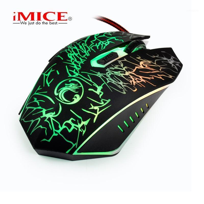 Mouse com fio para laptop e PC LED óptico 6keys / botão Mouse Professional High End Support DPI 800/1200/2400/32001