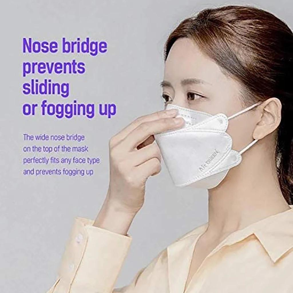 10Colors kf94 kn95 para adulto designer facial máscara proteção à prova de poeira em forma de salgueiro Respirador FFP2 CE certificação 10pcs / pack dhl