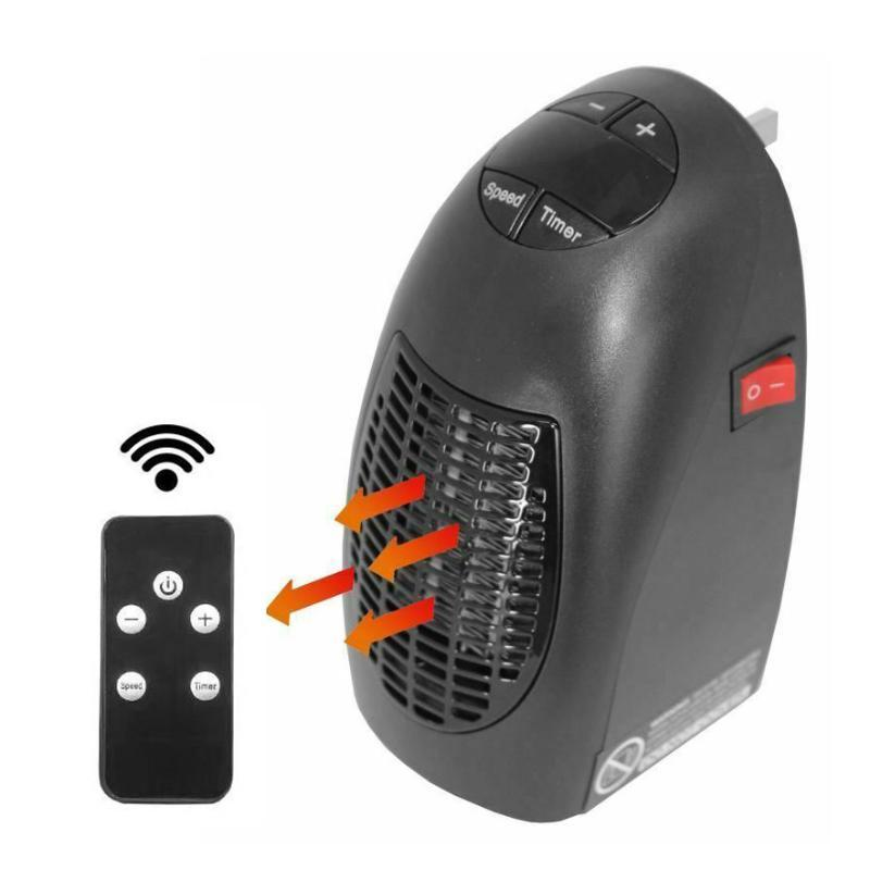 Home Heaters Portable Electric 400W Ceramic Air Heater For Office Quiet Fan Blower Warmer With Remote Controller Truck