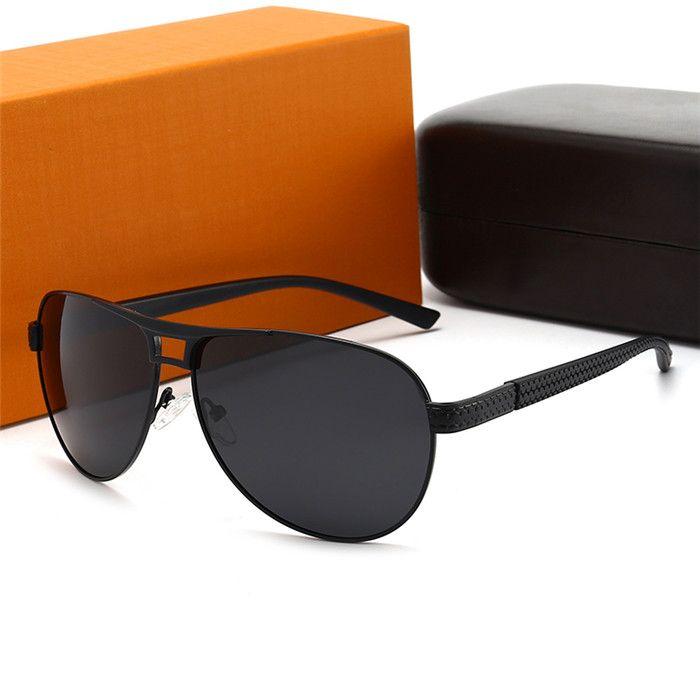 Gafas de sol de Ojo de Gato de Gato de Nueva Moda de lujo populares Vintage Hombre de negocios Sun Gafas de sol Diseñador Outdoor UV400 Star Style Gafas con caja de regalo