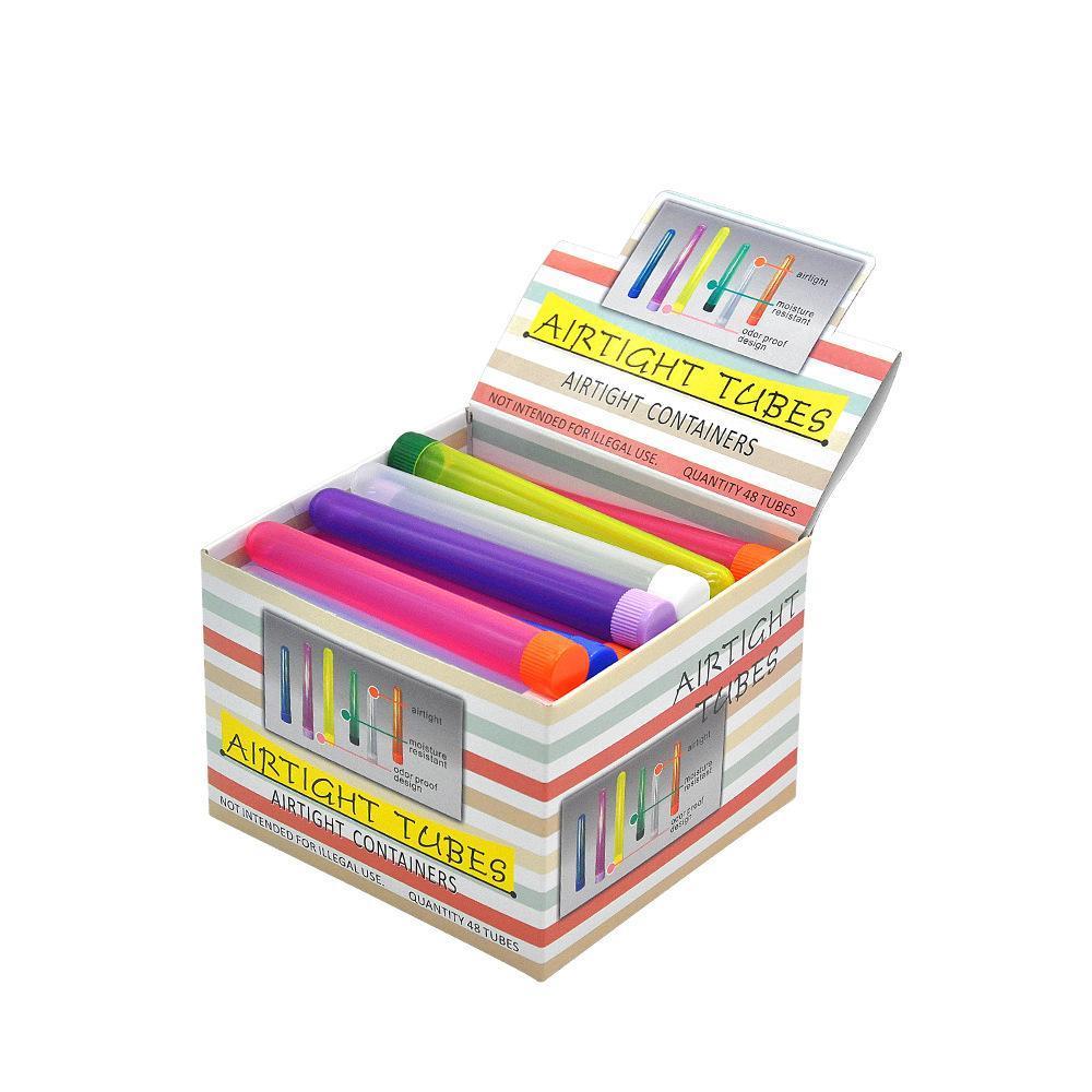 Tube en plastique de 135mm Doob flacon imperméable à air comprimé boîte de rangement de cigarettes de rangement rouleau de papier rouleau tube emballage hermétique