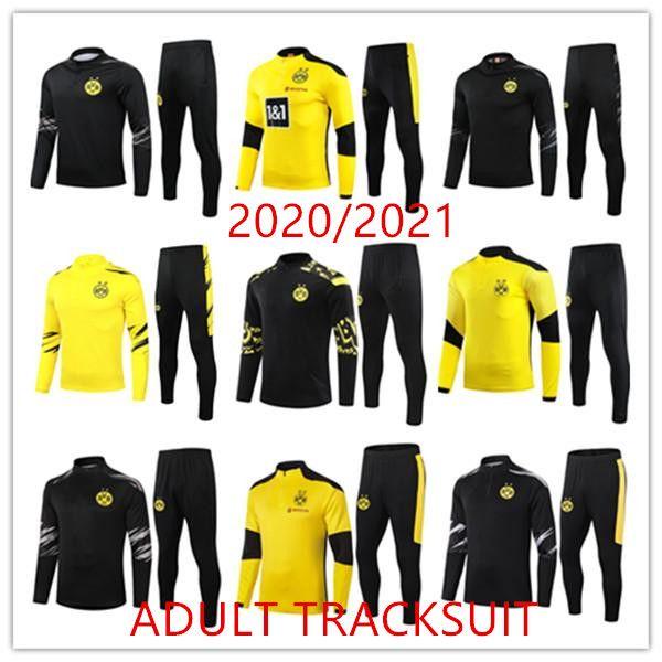 2020 2021 Borussia Eşofman Dortmund Chandal Futbol Survêtement De Futbol Eğitimi Takım Koşu Chandal Polo Kiti