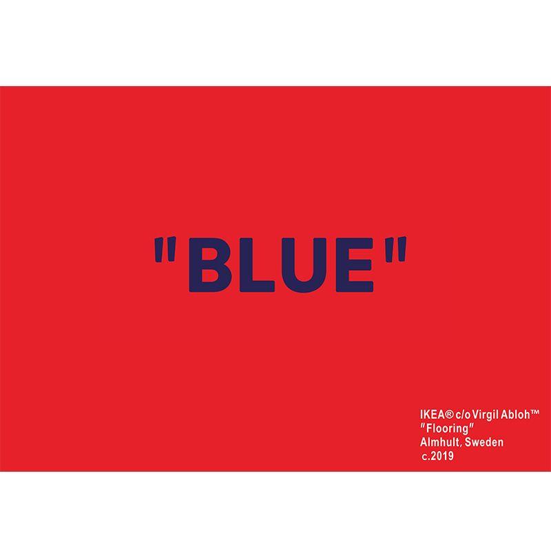Mobiliário doméstico Cashmere Blue Ki x VG Markerad Arte Vermelho Tapete na moda Esteira de piso grande fornecedor
