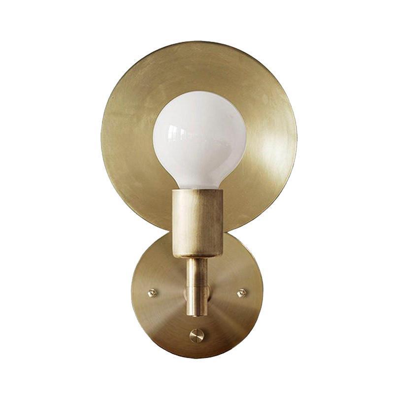 Качество латунные конус стены Sconce медные угловые ручки настенный светильник минималистский коридор для спальни живущая комната внутренняя отделка