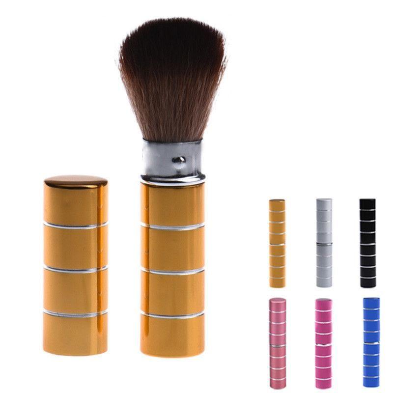Maquillage Brosses 1PC PRO Dome rétractable BLUSH BLUSH BLUSH ALUMINIUM OUTESHADOW Fondation FACIAL OUTILS COSMETIQUES