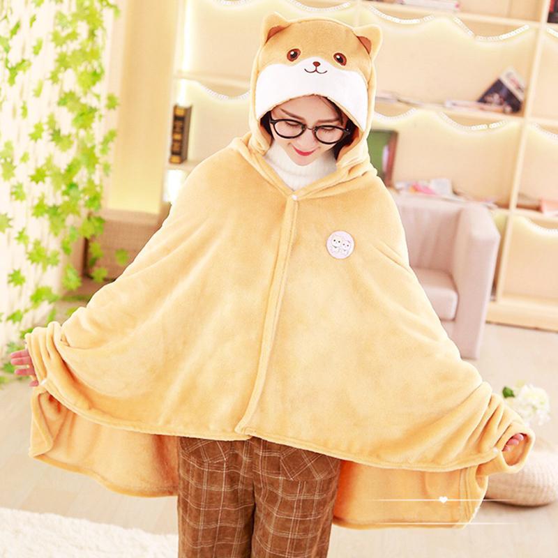 1,7 * 0,9 cm Niedlichen Corgi Hund Cape Lazy Decke, Cartoon Shiba Inu Plüschtierdecke, Cosplay Cloak Air Decken, Geburtstagsgeschenk 201027