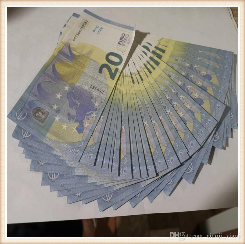 20 Euro Prop-Geld-Geld-US-Kinder spielen Spielzeug- oder Familienspielpapierkopie-Banknote 100pcs / paket