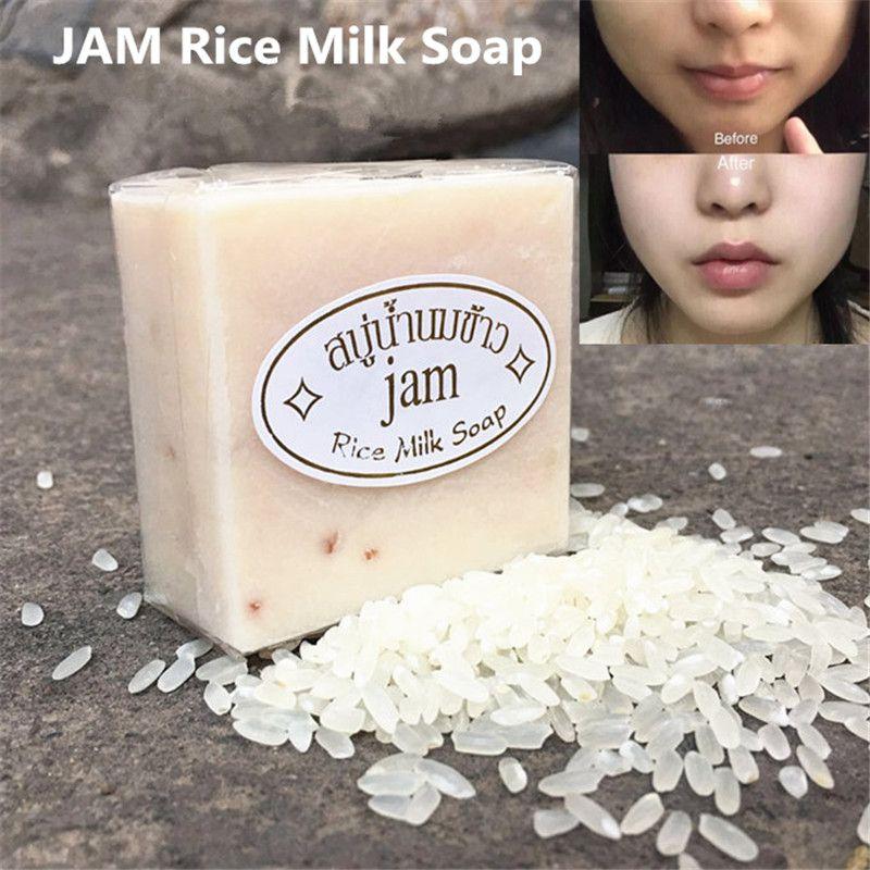 Варенье рисовое мыло 65G ручной работы натуральное рисовое молоко мыло масло контроль лица кожи уход за уходом на ванну мыло для душа