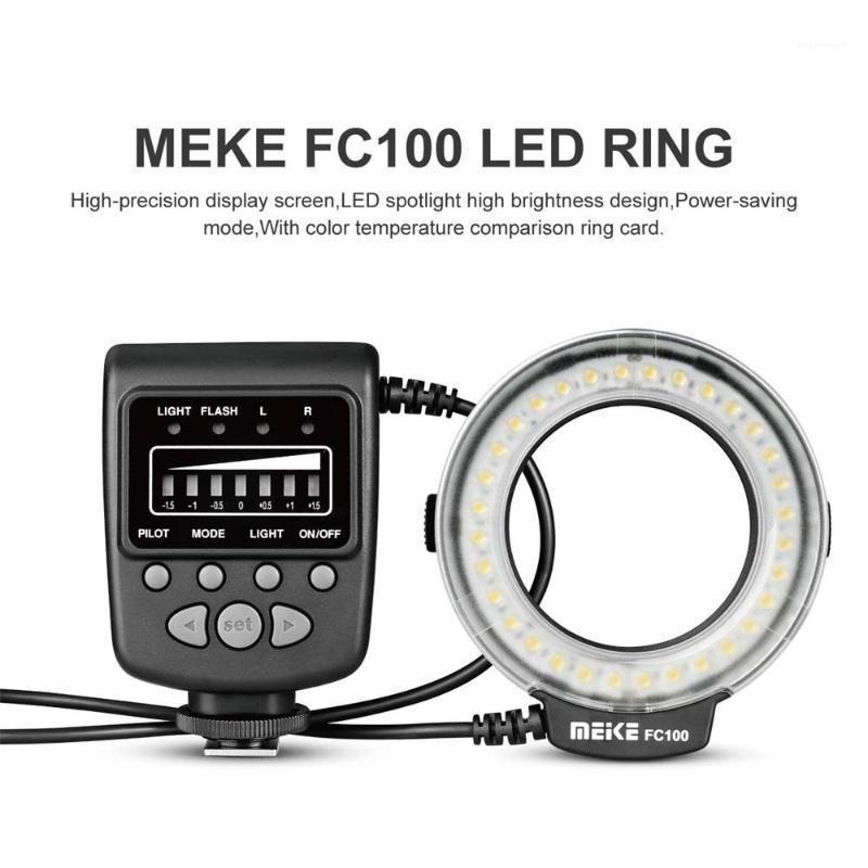 Speedlite LED Flash Light Ring Speedlite Anillo Lámpara de llenado Meike FC100 Un solo contacto Popular Tipo MANUAL Universal para cámara DSLR1