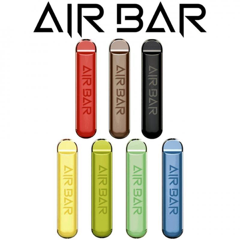 Air Bar Одноразовый Vape Pen Pod Устройство Комплект 1.8 мл 380 мАч Батарея 500 Загонией Предварительно заполненные Пары Стартер Стартовый Комплект Airbar Воздушная бара Люкс Poep Plus