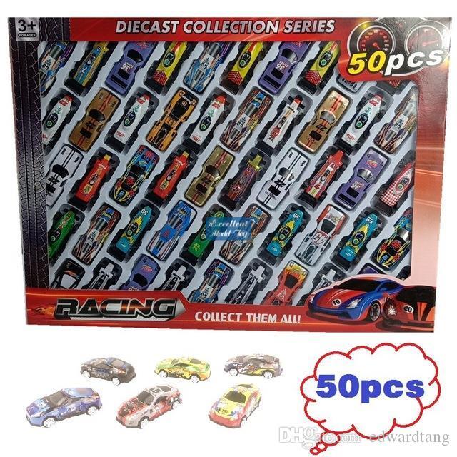مصغرة الحديد الكرتون الملونة F1 سباق السيارات نموذج سيارة لعبة الجيب، سيارة رياضية مع المدرج، وقوف السيارات، عيد الميلاد كيد عيد ميلاد الصبي هدية، 3-1