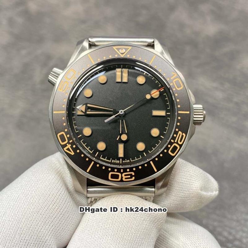 2020 VSF V2 Diver 300M James Bond 007 No Time To Die Cal.8806 Reloj automático para hombre 210.90.42.20.01.001 Black Dial Steel Strap Gents Gents Watche