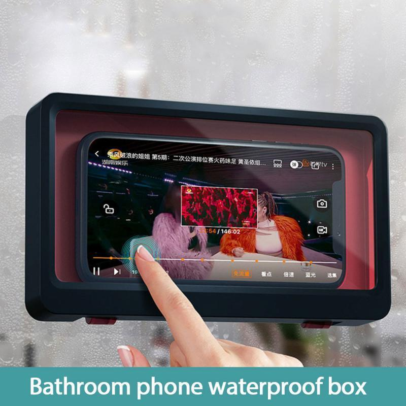 Phone Box Beautiful Wall Mounted Phone Case Waterproof Convenient Safe Holder Bathroom Home Storage Dropshipping