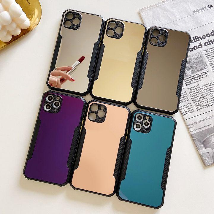 Новое Прибытие Macaron Case Макияж Зеркало Сотовый Чехол Для iPhone12 Pro Max 11 Pro Max X XR XS 7 8 Plus