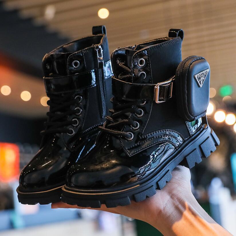 아이 아기 소녀 발목 어린이 흑인 소년 소프트 브랜드 가방 오토바이 부츠 패션 따뜻한 신발 가을 새로운 C0313