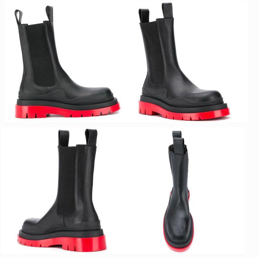 2021 Yeni Man Bottega-çizme moda lüks Orta Buzağı patik LASTİK BOT Man platformu tıknaz çizme bayan çizme lüks tasarımcı kadın botları