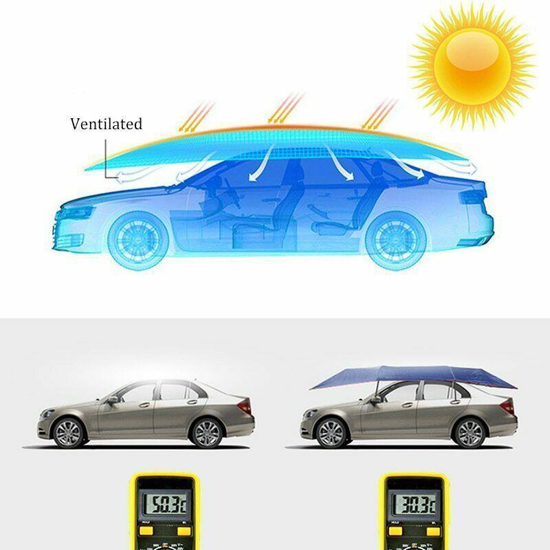 2m * 4M Cubierta de coche Sun UV Snow Snow Resistentes a la lluvia Resistente a la lluvia Cubiertas duraderas Accesorios para automóviles para el cuidado del automóvil Reducir la temperatura interior1