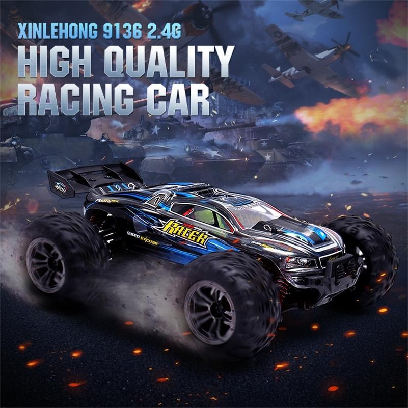 Xinlehong 9136 1/16 2.4G 4WD 32см RC гоночные автомобили 36 км / ч Bigfoot внедорожник автомобиль RTR игрушка VS Xinlehong 9125 подарки мальчик 201218