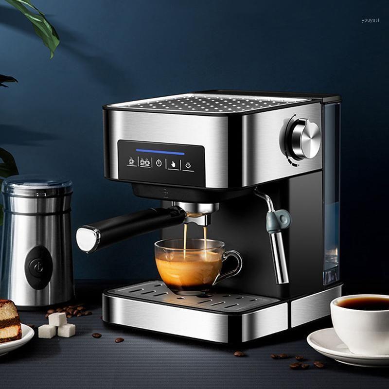 Espresso Coffee Maker Machine 20Bar Coffee Machine Полуавтоматический бытовой Итальянский производитель с паровой функцией1