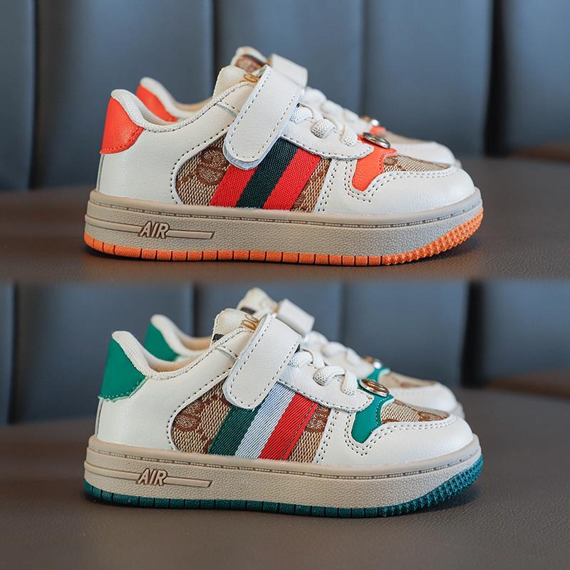 Çocuk Tasarımcı Ayakkabı Lüks Desen Kaykay Ayakkabı Moda Baskı Babys İlk Walkers Kız Erkek Sneakers 2 Renk