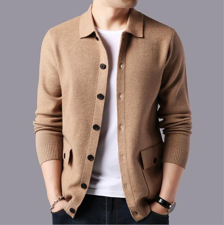 Nuovi uomini cardigan maglione slim maglia maglia uomini autunno inverno moda maglieria tuta sportiva maglioni di lana uomo uomo vestiti maschili