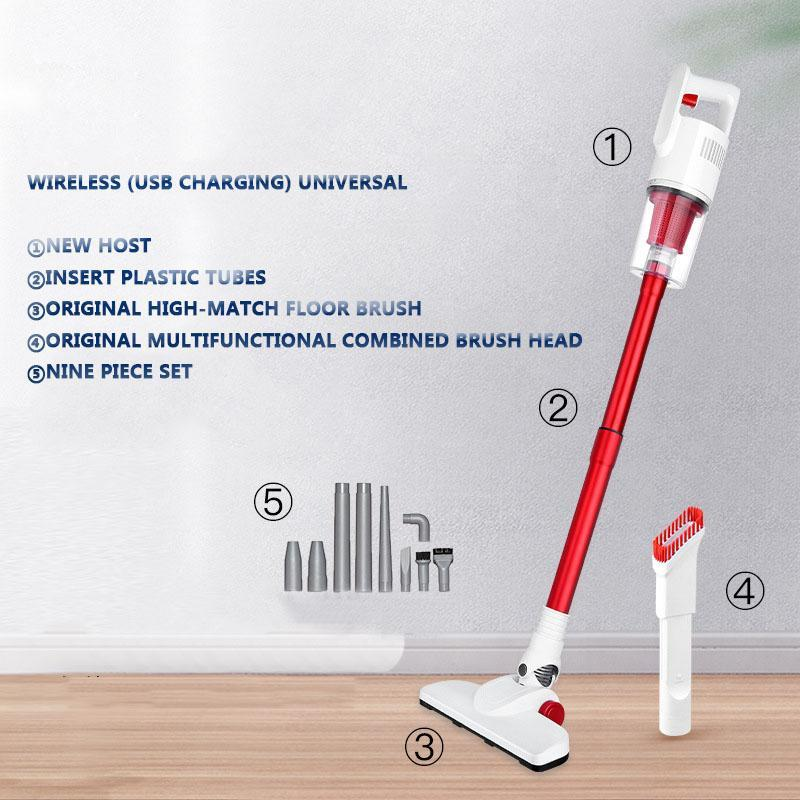 MOTAWISH 2 In 1 Handheld Wireless Vacuum Cleaner Cyclone Filter 13000Pa Strong Suction Dust Collector Aspirator USB charging