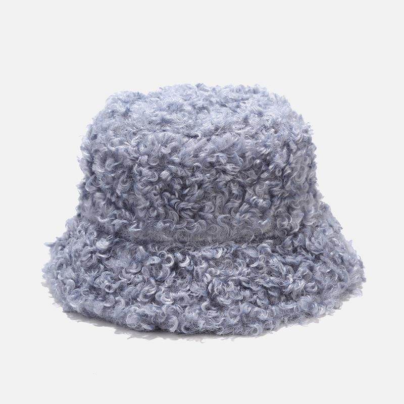 2020 nuevos sombreros para mujeres otoño invierno cubeta sombreros de cordero peluche suave cálido pescador sombrero panama cascas cascas señora plana estilo coreano