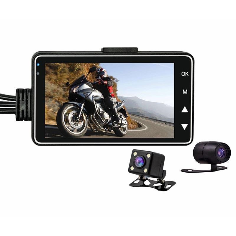 Motocicleta Camera traço Cam Frente Rear Dual Lens Gravador eletrônico para JR Outdoor Deals