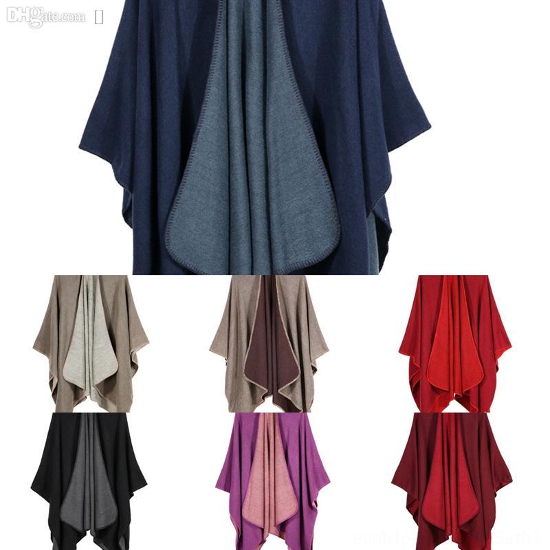 QWJ Plaid Schals Mädchen Schal cm Gitter Gitter Decken Square Neck Mode SHL Feste Farbe Marke Schal Hut Hohe Qualität Schal Fransen