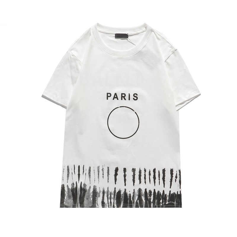 Hombres de moda para mujeres camiseta para el verano Nueva letra de llegada Impreso Casual T Shirts Hombres transpirable camisetas Ropa 2 colores S-2XL