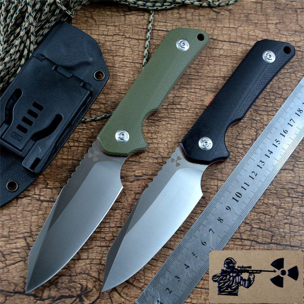 Jungle Edge JR3019 Coltello fisso D2 Blade G10 Maniglia con guaina Kydex per campeggio all'aperto Caccia da campeggio Coltello tattico EDC Strumenti