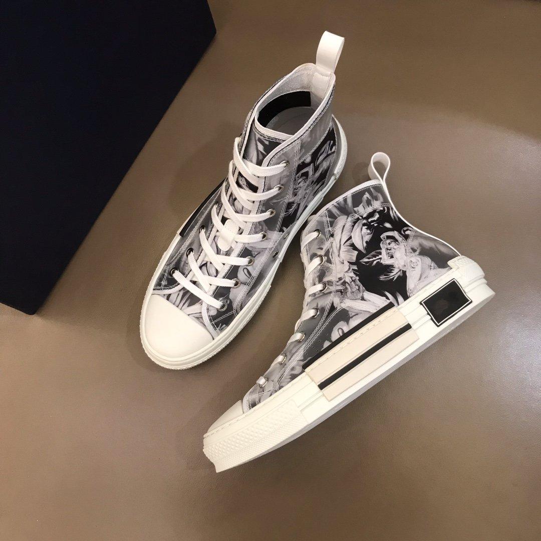 """""""Com caixa"""" bela moda alta qualidade multicolor gradiente Tecido Técnico High para Sapatos Homens Mulheres Casual Sapatos"""