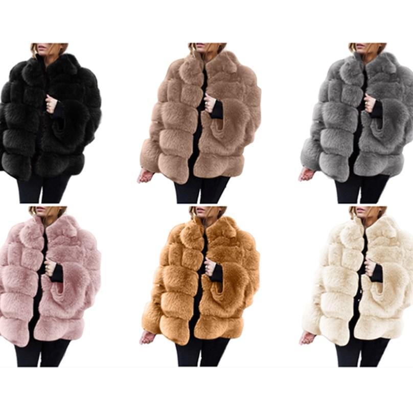 Kadın Artı Boyutu Faux Kürk Güz Kış Giysileri Kalınlaşmak Giyim Fuzzy Hoodies Uzun Kollu Kazak Düz Ceket Moda Ücretsiz Kargo 0742