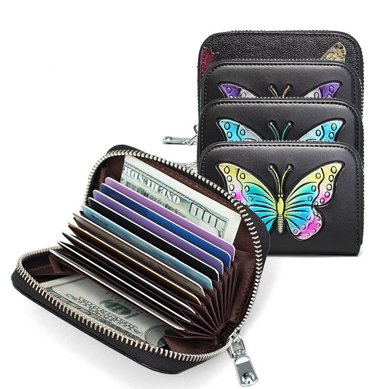 HBP Moda Real couro de crédito titular de cartão de cartão de cartão de cartão mini carteira