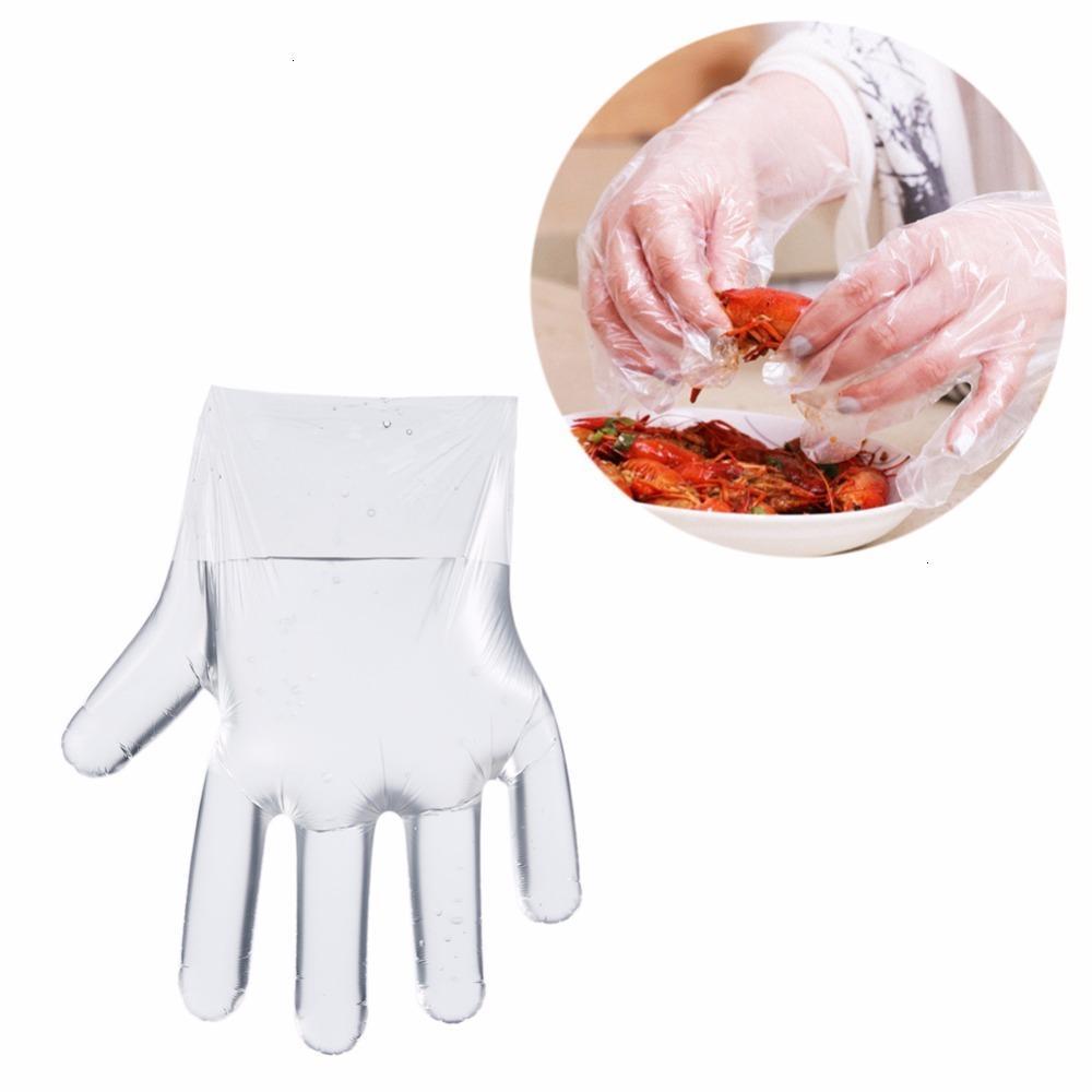 Higiene Servicio ecológico Servicio Plástico Desechable Guantes de catering Restaurante para el hogar Cocina Procesamiento de alimentos al por mayor LX