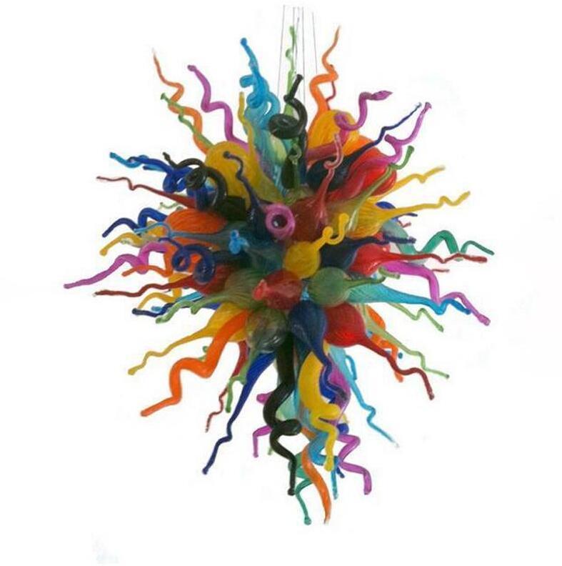 """Modern Led Chandeliers Multicolor Flower Art Vidro Lâmpada de vidro 40 """"Casa Decoração LED luzes Luzes sopradas de vidro de vidro lustre luminárias luminárias-l"""