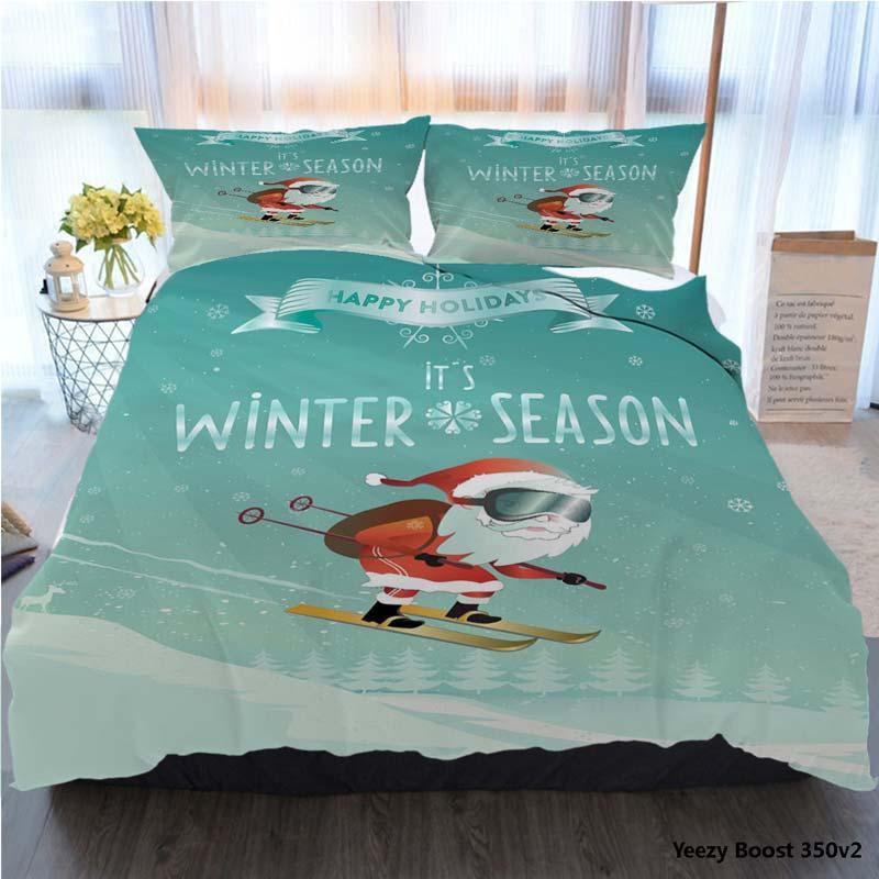 Bedding Set King Size Tortoise Duvet Cover 3D Twin Full Queen Wintersport Santa Poster Polyester Duvet Cover Luxury Bedding Sets