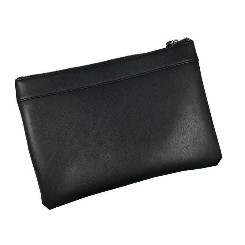 Code 2 Genuine Leather Men Clutch Bag Business Zipper Bag Man Handbag Briefcase Soft bags High Quality