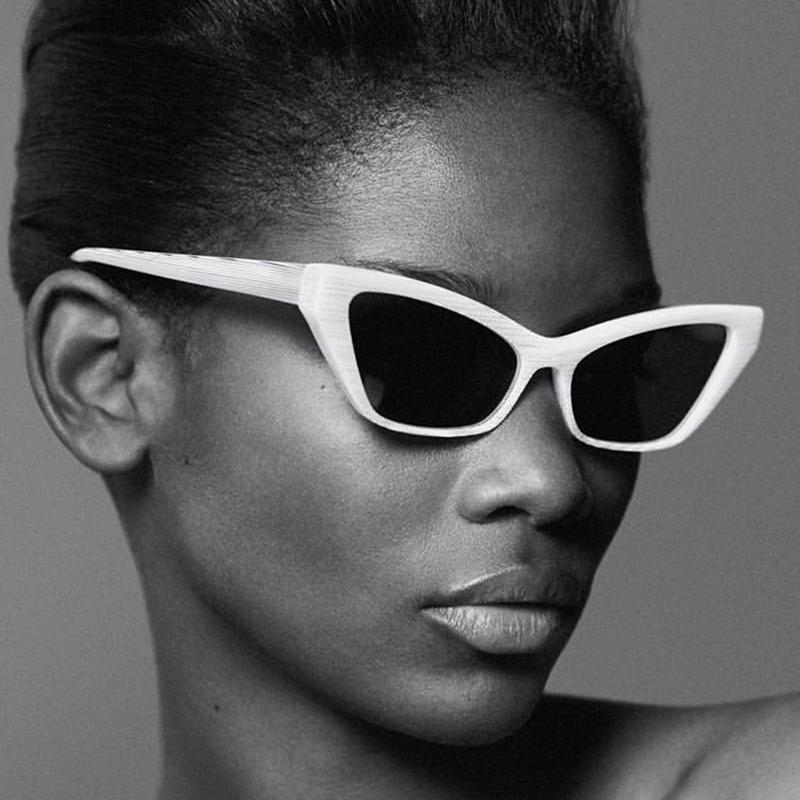 Gafas de sol de las mujeres de la vendimia 2020 Diseño de gato de lujo Ojo retro Gafas de sol Lady Gafas al aire libre moda Gafas de sol de gran tamaño Mujeres