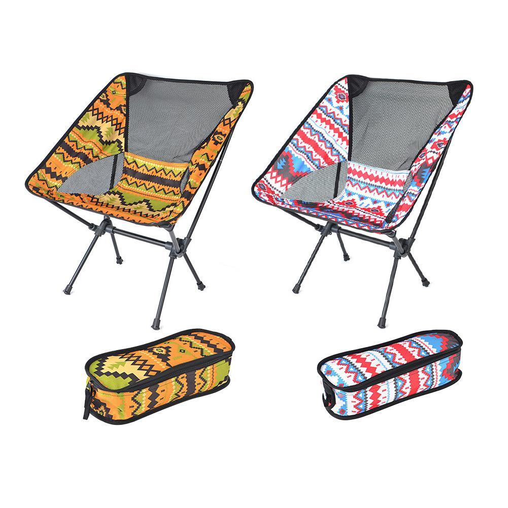 Cadeira de pesca Praia Caminhada Dobrável Cadeiras Ao Ar Livre Portátil Lightweight Backpacking Cadeira de Campismo Com Carry Bag Z1130